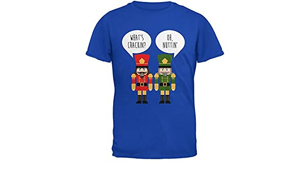 e877ef64 Amazon.com: Old Glory Christmas Nutcracker What's Crackin' Funny Mens Soft T  Shirt: Clothing