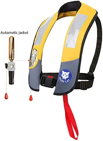 150KG Eyson Life Jackets Vests Inflatable Survival Preservers Lifesaving PFD CE Approved 330LB Automatic and Manual Lightweight Premium Quality