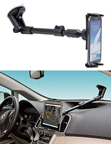 Digitl Car Mount, Premium Windshield Car Phone Mount for Samsung Galaxy S9 S8 S7 Plus, Note 8 9, Tab A E 5 4 S3 S4 (All 5-8