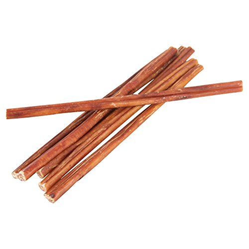 12'' Straight Bully Sticks for Dogs [Small Thickness] (50 Pack) - Natural Low Odor Bulk Dog Dental Treats, Best Thick Pizzle Chew Stix, 12 inch, Chemical Free by Pawstruck