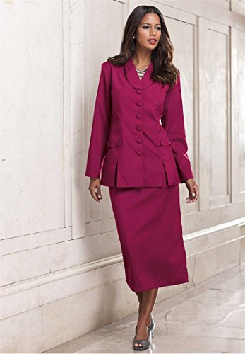 The Best Dressed Women's Plus Size 10-Button Skirt Suit