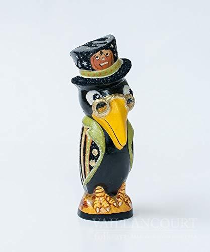 Vaillancourt Folk Art Halloween Black Crow -