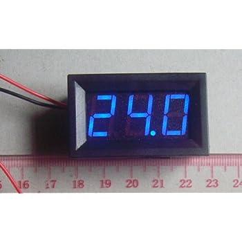 Hittime 2 Wire Blue LED Panel LED Display Voltage Meter Voltmeter