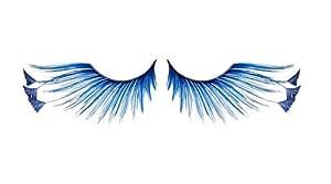 Zinkcolor Royal Blue Feather Tip False Eyelashes F878 Dance Halloween Costume