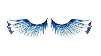 Amazon.com : Zinkcolor Royal Blue Feather Tip False Eyelashes F878 ...