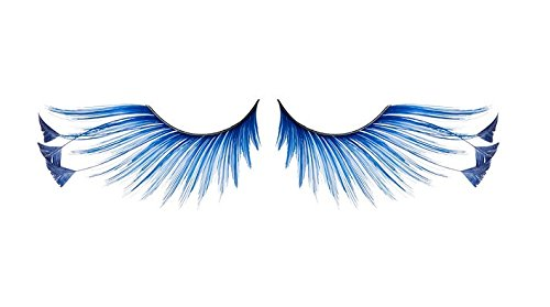 Zinkcolor Royal Blue Feather Tip False Eyelashes F878 Dance Halloween Costume]()