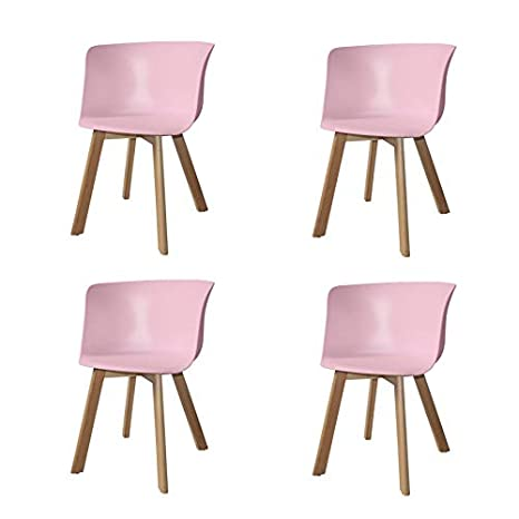 Ventamueblesonline Pack 4 SILLONES Winter Wood Rosas: Amazon ...