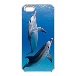Dolphins ZLB811637 Personalized Phone Case for Iphone 5,5S, Iphone 5,5S Case