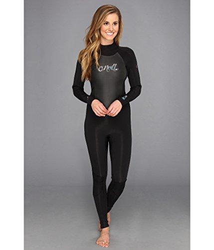 O'Neill Women's Epic 3/2mm Back Zip Full Wetsuit, Black/Black/Black, 6 Short