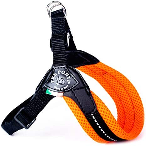 Size 2 Orange Tre Ponti Easy Fit Mesh Fix Neon Dog Harness