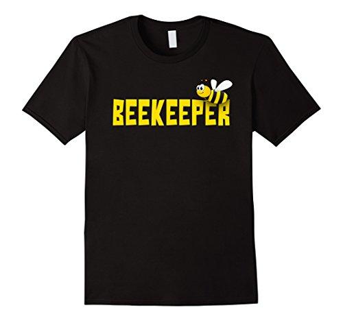 Man In Bee Costume (Mens Bee Keeper Beekeeper | Funny Cute Beekeeping T-shirt Large Black)