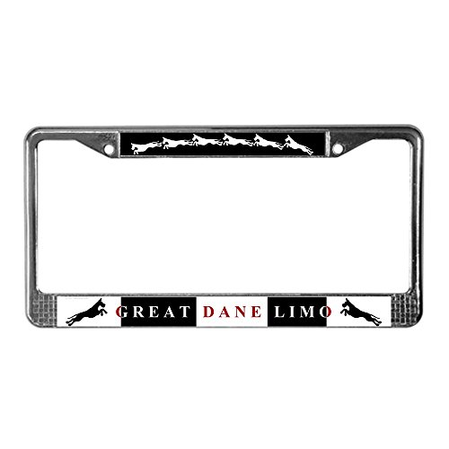 - CafePress - Great Dane Limo License Plate Frame - Chrome License Plate Frame, License Tag Holder