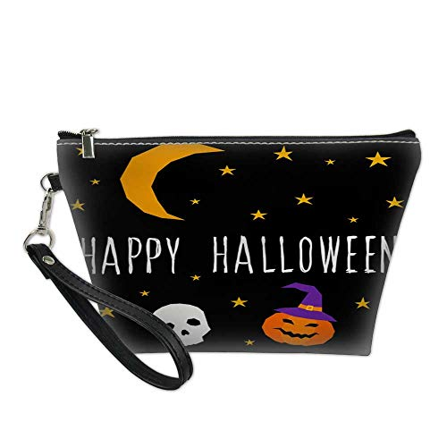 makeup organizer bagwaterproof cosmetic bagHappy halloween card template Abstract halloween pattern for design card party invitation poster album menu t shirt bag 8.5