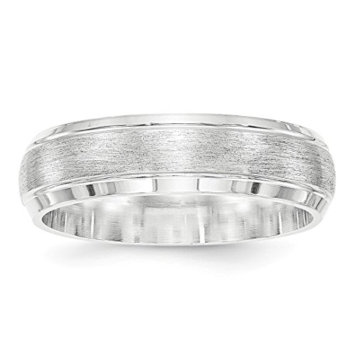 925 Sterling Silver 6mm Brushed Wedding Ring Band Size 11.5 Fancy Classic Beveled Edge Fine Jewelry For Women Gift Set -
