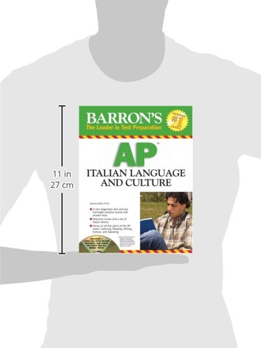 Barron's AP Italian Language and Culture: with Audio CDs (Barron's The leader in Test Preparation) by Brand: Barron's Educational Series