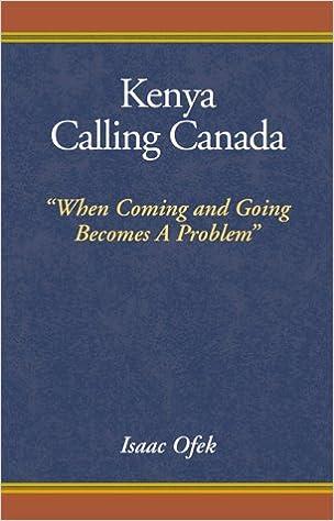 Book Kenya Calling Canada