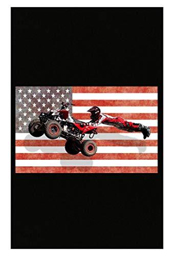 American Flag Four Wheeler Quad Bike Trick Gift - Poster -