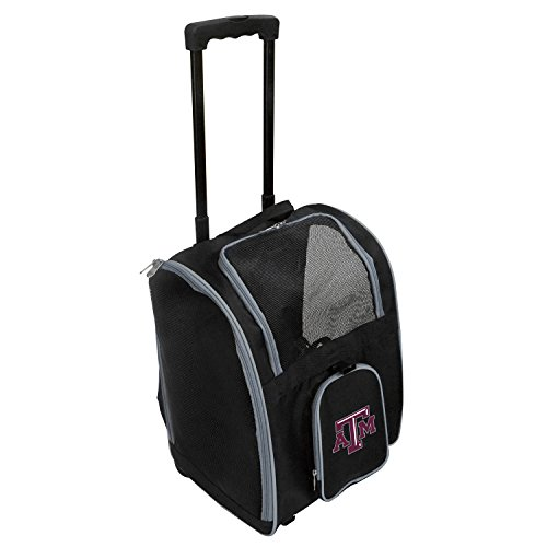 Denco NCAA Texas A&M Aggies Premium Wheeled Pet Carrier