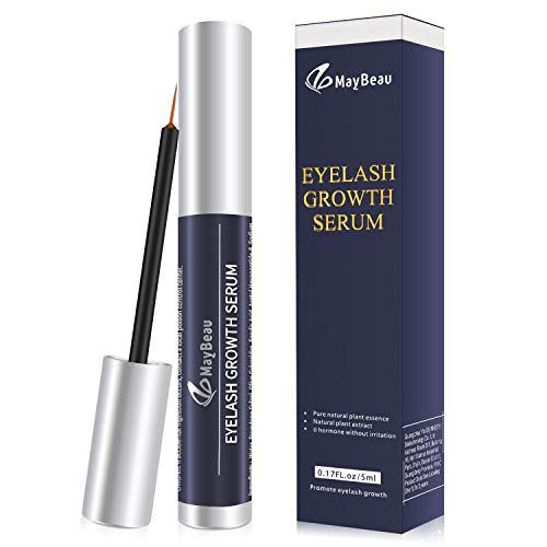 MayBeau Eyelash Growth Serum,Natural Brow Lash Enhancer(5ML),Nourish Damaged Lashes and Boost Rapid Growth for Any Kind of Lash and Brow in 20 Days -