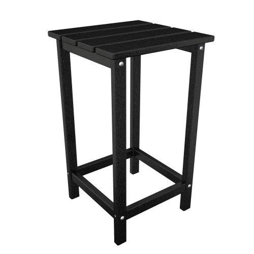 POLYWOOD ECT26BL Long Island 26 Counter Side Table, Black