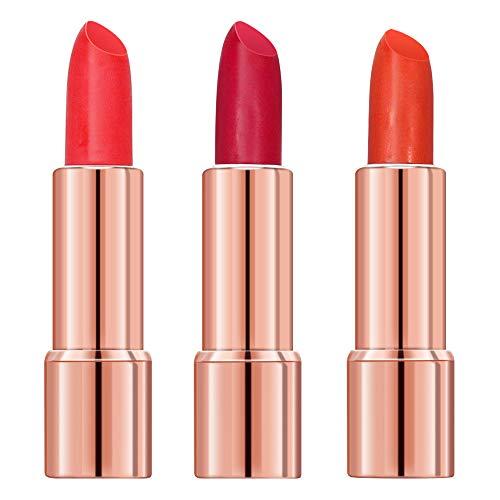 3pcs Matte Lipstick, Waterproof Long Lasting Lipstick Set, Twinkle Starlight Lip Gloss, Lip Balm, Non-Stick Cup for Lips Makeup Gift