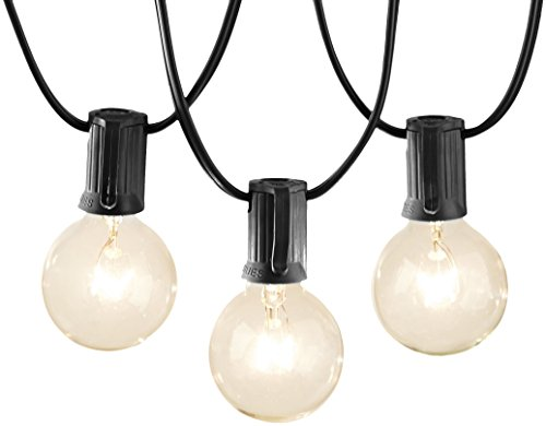 AmazonBasics Patio Lights, Black, 25' by AmazonBasics