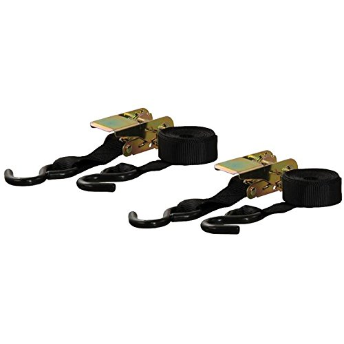 Curt Manufacturing Cargo Ratchet Straps 1inx10ft 2 Pack Black by Curt Manufacturing