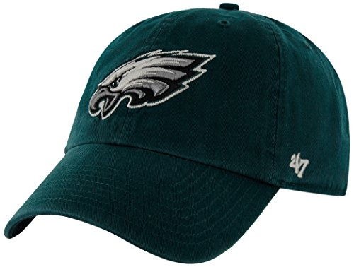 NFL Philadelphia Eagles '47 Clean Up Adjustable Hat, Pacific Green, One Size - Philadelphia Eagles Nfl Metal