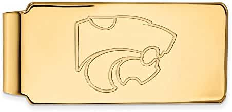 14k Yellow Gold LogoArt Official Licensed Collegiate Kansas State University (KSU) Money Clip