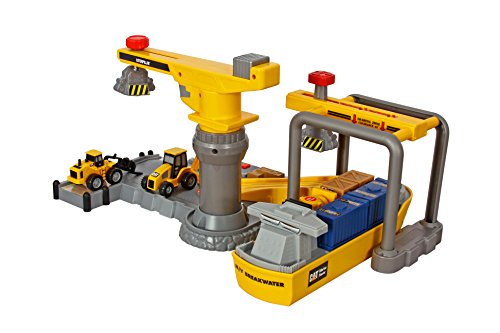 Construction Toys Product : Toy state caterpillar construction playset shipping port