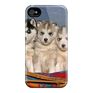 For Iphone Case, High Quality Husky Puppies For Iphone 4/4s Cover Cases