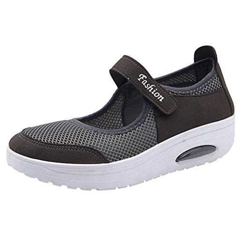 Seaintheson Women's Sport Running Shoes Breathable Lightweight Platform Shoes