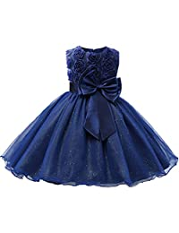 Csbks Girls Party Dress Princess Baby Pageant Glitter Tulle Tutu Wedding Dresses