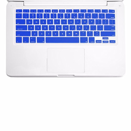 TOP CASE - Keyboard Silicone Skin Cover Compatible with Apple MacBook 13 13.3 (1st Generation/A1181) with TOP CASE Mouse Pad - Royal Blue