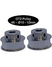 2 poleas GT2 con 10 mm de ancho 12, 16, 18, 20, 24, 26, 28, 30, 32, 36, 40 o 60 dientes, GT2 48Z Ø10mm, 1