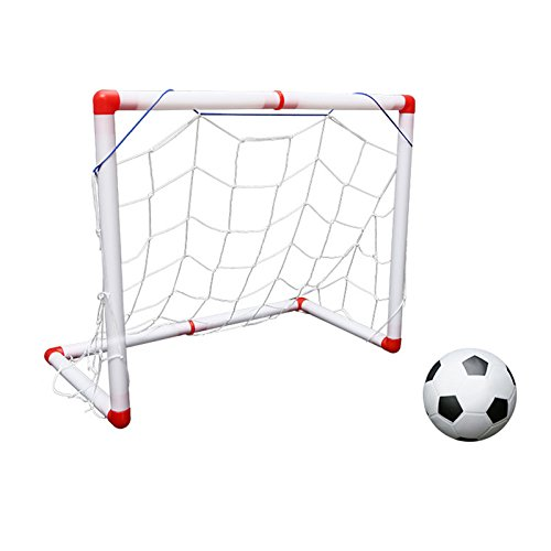 WDDH Kids Toys Soccer Goal Set, Portable Soccer Goal Set Outdoors Training Football with Parents Game As Hockey Ball Gliding Ball Kicking Play Ball by WDDH