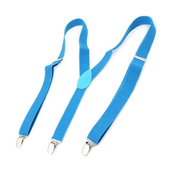 Allegra K Lady Woman Adjustable Metal Clamp Elastic Suspenders Braces