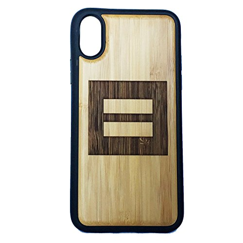 Equality Symbol Phone Case iPhone XR iMakeTheCase Eco-Friendly Bamboo Wood Cover + TPU Wrapped Edges | Marriage Equality. Gay Lesbian Pride | LGBT Human Rights Logo Red Equal Sign (Best Marriage Equality Signs)