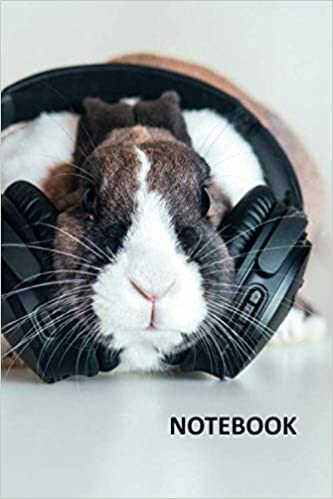 Bunnies For Sale Near Me >> Notebook Bunny Headphones Chic Composition Book Daily