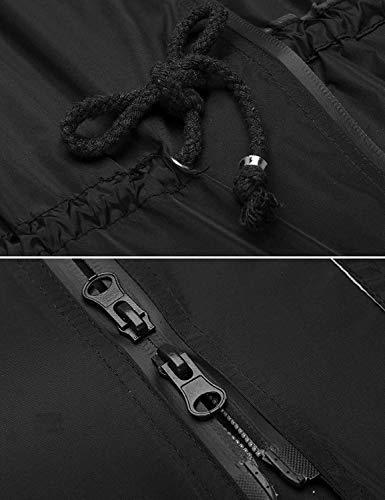 A A A Coulisse Ragazza Ragazza Ragazza Funzionale fashion Donna Vento Regolabile Schwarz Giacca Impermeabile con con Impermeabile Impermeabile HX Chic Giacca da Cappotto Cappuccio wRUvv6q