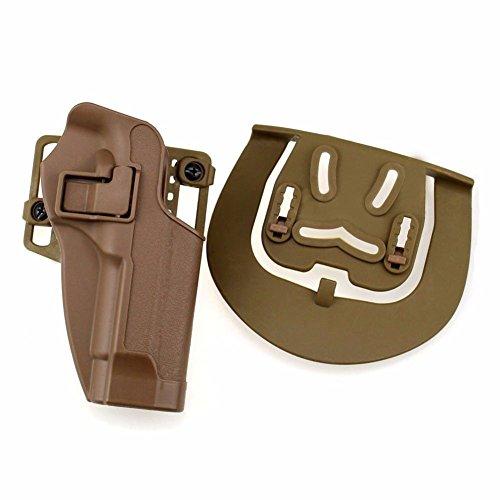 - LTY Quick Release Tactical Right Hand Concealment Waist Belt Pistol Holster for Beretta M9 M92 (tan)