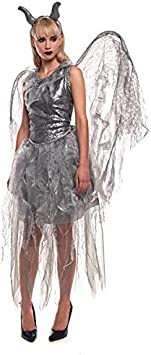 Partilandia Disfraz Hada Maléfica para Mujer (L): Amazon.es ...