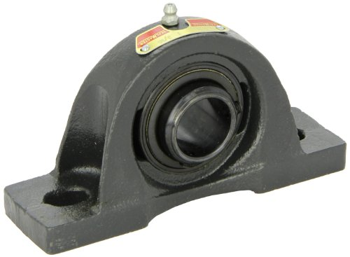 """Sealmaster NPD-19 Pillow Block Ball Bearing, Non-Expansion Type, Normal-Duty, Regreasable, Double Setscrew Locking Collars, Felt Seals, Cast Iron Housing, 1-3/16"""" Bore, 1-11/16"""" Base to Center Height, 4-3/4"""" Bolt Hole Spacing Width from Sealmaster"""