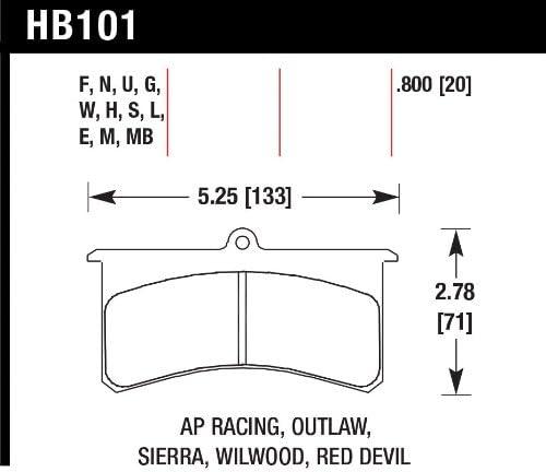 Hawk Performance HB521S.800 Disc Brake Pad