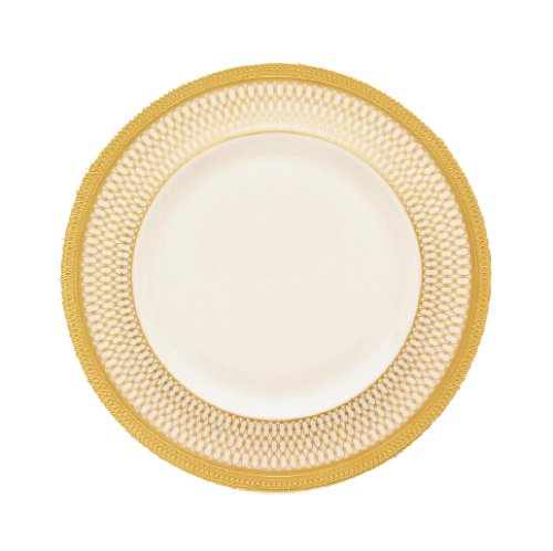 Lenox Lowell Gold Banded Ivory China 9-Inch Accent Plate