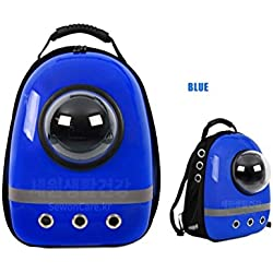 Pet Bag Cat Dog Carrier Spaceship Bag Backpack Blue