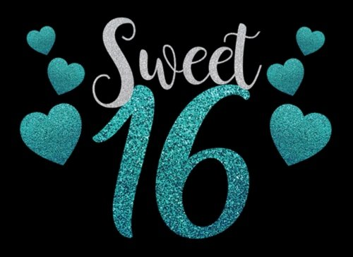 Sweet 16: Guest Book , 16th Birthday Gifts| Message Book, 8.25x 6 Diary, Journal, Notebook 100 Pages  (Volume 5)