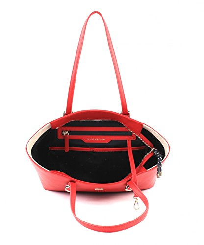 Tommy Hilfiger Th Buckle Tote, Borse a spalla Donna Rosso (Tommy Red)