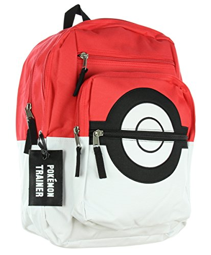 BIOWORLD Pokemon Pokeball Backpack with Trainer Bag Charm -