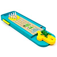 H2solution Mini Bowling Game Toy, Desktop Launcher Bowling Game, Intelligence Development and Stress Relief, Family Games for Kids and Adults